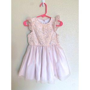 2T blush pink dress